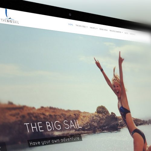 The Big Sail web design by YZ DESIGNS