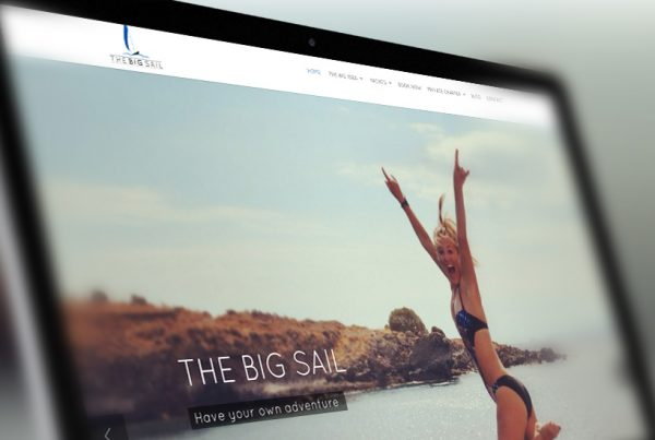 The Big Sail website designed by YZ DESIGNS