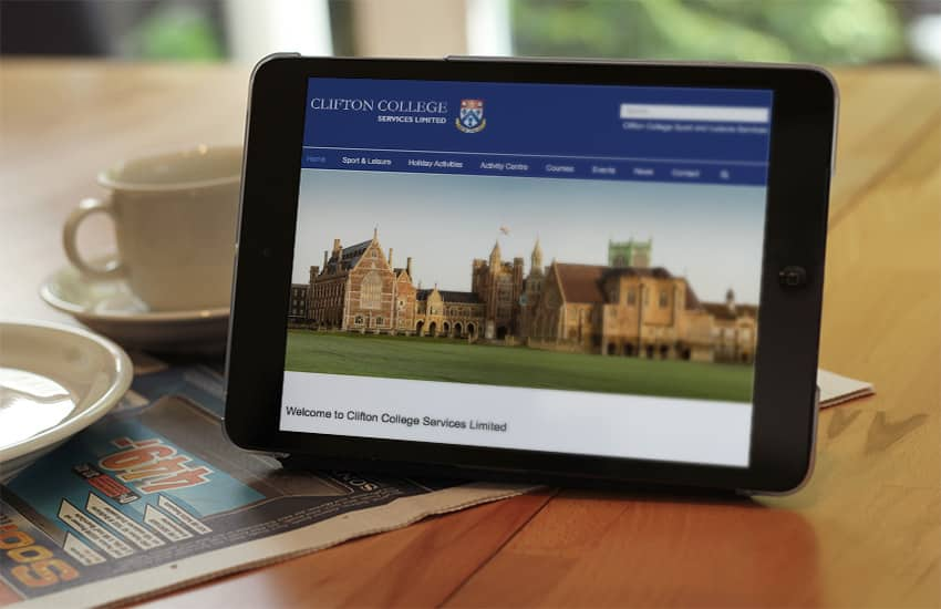Responsive web design layout for Clifton College Bristol