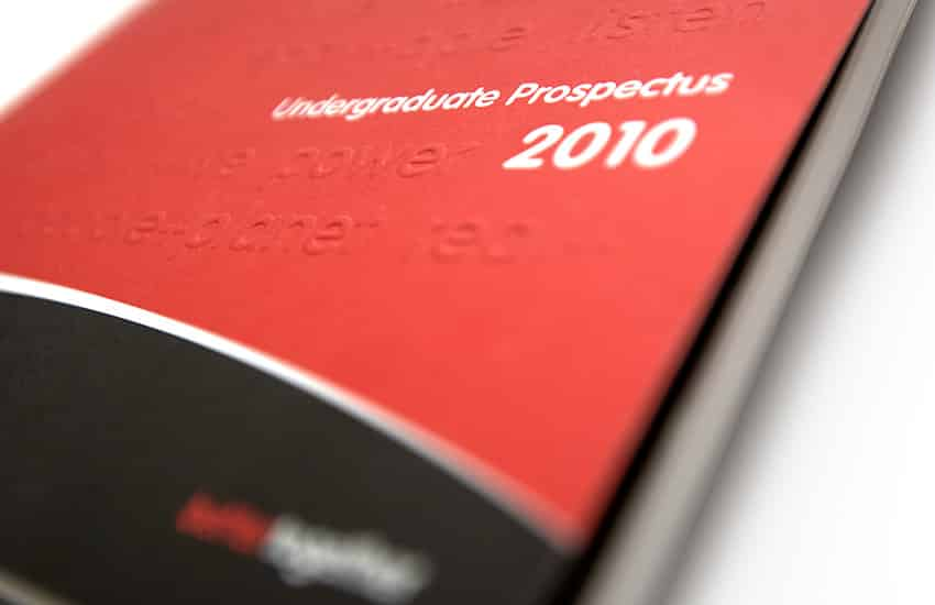 Prospectus graphic design and page layouts