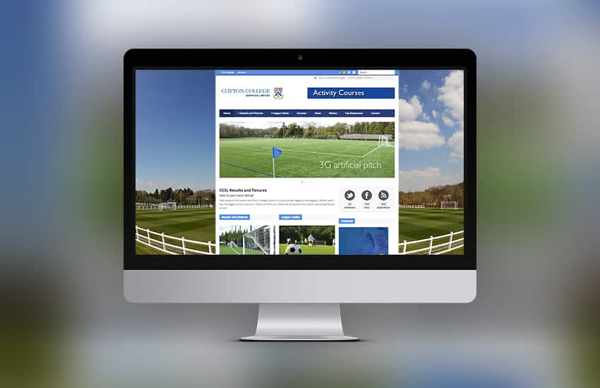 Football League Website Design