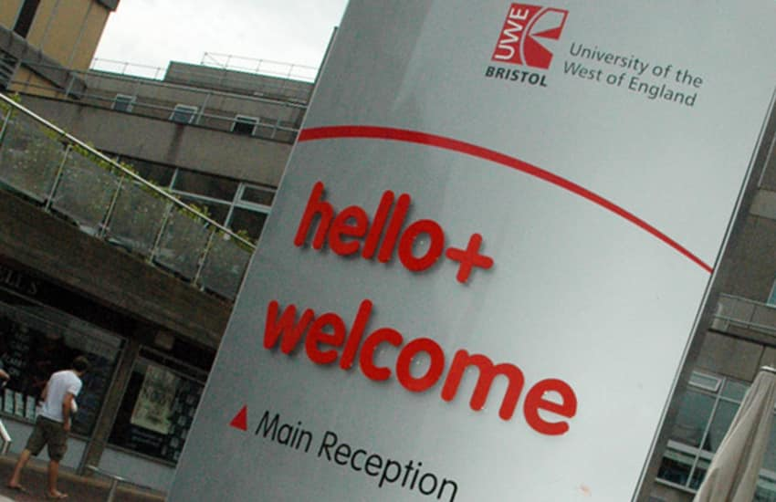 External signage for the University of the West of England