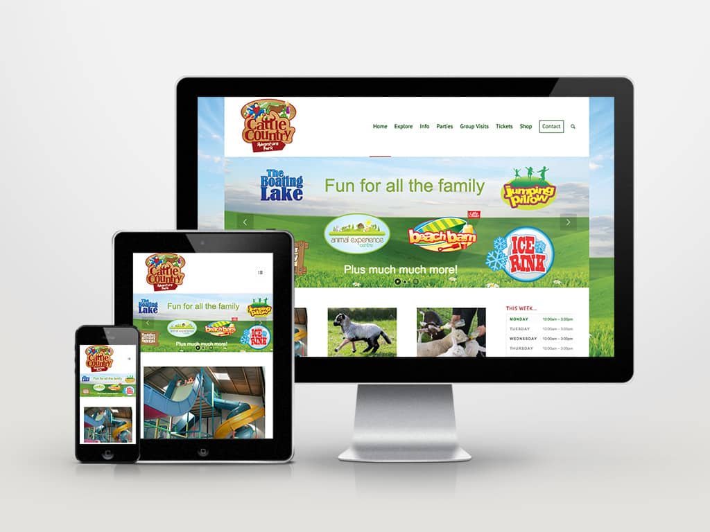 Website design for Cattle Country Adventure Park