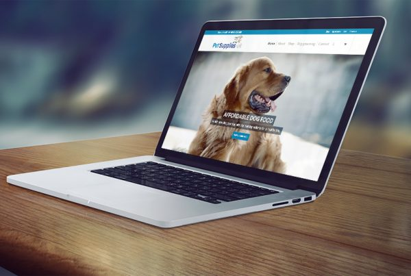 Pet shop E-commerce web design